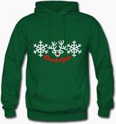 kersttrui voor mannen | sweater met kap | maat Large