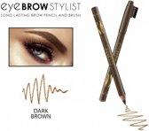 REVERS® Eye Brow Stylist Long Lasting Brow Pencil & Brush Dark Brown #03