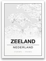 Poster/plattegrond ZEELAND - A4