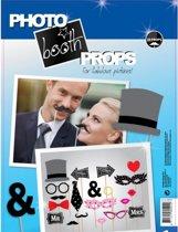 Foto props set bruiloft