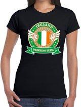 Zwart Ireland drinking team t-shirt dames S
