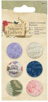Fabric Covered Buttons (6pcs) - Nature's Gallery