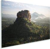 Zonsondergang achter de Sigiriya in Sri Lanka Plexiglas 90x60 cm - Foto print op Glas (Plexiglas wanddecoratie)
