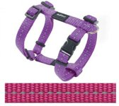 Rogz For Dogs Nitelife Hondentuig - 11 mm x 20-36 cm - Roze