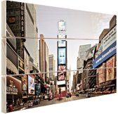 Zonsopgang Times Square Hout 120x80 cm - Foto print op Hout (Wanddecoratie)