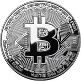 Bitcoin Munt zilver