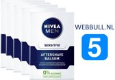 5 x NIVEA MEN Sensitive Aftershave Balsem - 100 ml