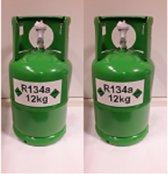Airco Gas / Koudemiddel R134A Inhoud 12KG Fles