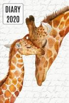 2020 Daily Diary Journal, Mother & Baby Giraffes