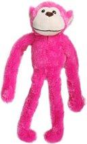 Flamingo Pluche Aap Geraamte - Hondenspeelgoed - 52 cm - Roze
