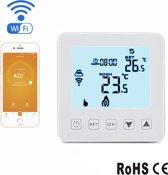 Slimme Thermostaat WiFi - Mobile App - Afstandbestuurbare Thermostaat - Alexa Google Assistent - IFTTT - CV Ketel - Duurzame Thermostaat 220 Volt (wit)