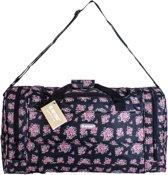 Hi-Tec Weekend Tas Vintage Roosjes Omhang Reistas Handbagage