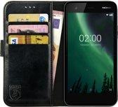 Rosso Element Nokia 2 Hoesje Book Cover Zwart