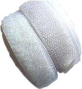 Klittenband Zelfklevend Wit 19 mm breed en 1 meter lang
