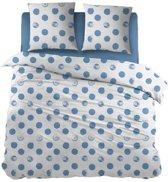 Snoozing Merel - Dekbedovertrek - Lits-jumeaux - 270x200/220 cm + 2 kussenslopen 65x65 cm - Blue