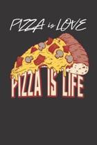 Pizza Notebook Journal