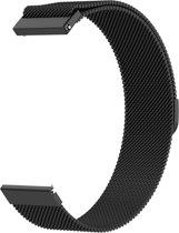 Milanees bandje 20mm zwart geschikt voor Garmin Venu/Vivomove/Vivoactive 3/Forerunner 245/Forerunner 645