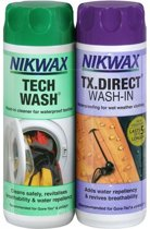 Nikwax Tech Wash en Nikwax TX.DIRECT wash-in voor waterafstotende textiel - 2 x 300 ml | 2-pack wasmiddel & impregneermiddel