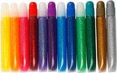 Glitterlijm - Assortiment,  10 ml, 12 assorti