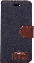 Mobigear Wallet Book Case Denim Black iPhone 7 / 8