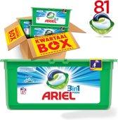 Ariel 3in1 Pods Wasmiddelcapsules - Pods Alpine - Voordeelverpakking 3x27 wasbeurten