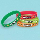 Super Mario Bros uitdeel armbandjes 6 st.