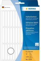 HERMA Vielzwecketiketten wit 6x50 mm Papier mat 1248 St.