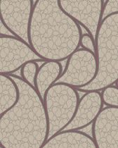 Dutch Wallcoverings vliesbehang dessin - beige/rood