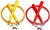 #DoYourFitness - 2x Speed Rope - »Rapido« - Springtouw met stalen kabel - 300 cm - geel & rood