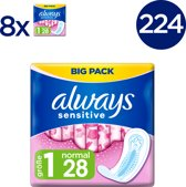 Always Sensitive Ultra Normal (Maat 1) Maandverband - Voordeelverpakking 224 Stuks