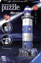 Ravensburger Vuurtoren Night Edition- 3D puzzel gebouw - 216 stukjes