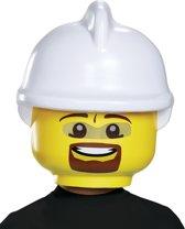 Lego® brandweerman masker voor kinderen - Verkleedmasker