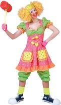 Fluo Clown Kostuum | Pokey Dot | Vrouw | Maat 40-42 | Carnaval kostuum | Verkleedkleding