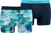 Levis - Heren 2-Pack Aloha Brief Boxershorts Blauw - S