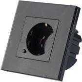 V-tac Smarthome VT-5134 WiFi wandcontactdoos – zwart – 10A – 2200W - Werkt met Amazon Alexa en Google Home Assistant