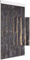 Vliegengordijn kattenstaart effen grijs 90x210