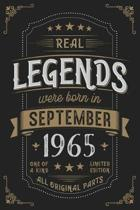 Real Legends were born in September 1965