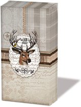 Ambiente Wild Deer papieren zakdoeken