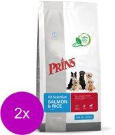 Prins fit selection zalm/rijst hondenvoer 2x 15 kg