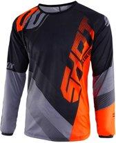 Shot Kinder Crossshirt Devo Ultimate Black/Neon Orange-XL