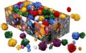 Pom-poms, d: 15-40 mm, glitter, 400 gr