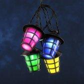 Konstsmide 4164 - Snoerverlichting - 40 lamps LED gekleurde lantaarns - 975 cm - 24V - voor buiten - multicolor