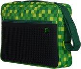 Schoudertas Pixie Crew groen/zwart 41x30x8 cm