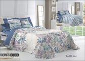 Luxe Bed sprei deken 250 x 270 BAREY azul met slopen 60x60