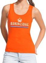 Oranje Koningsdag vlag tanktop / mouwloos shirt  voor dames - Koningsdag kleding XL