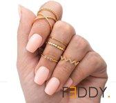 6 delige ringen set verschillende stylen goud kleur
