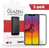 2-pack BMAX Apple iPhone XS Max Full Cover Glazen Screenprotector | Dekt het volledige scherm! | Beschermglas | Tempered Glass
