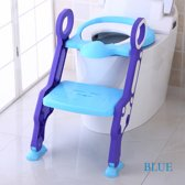 Baby Potty Training Child Toilet Seat with  ladder and soft padded seat
