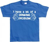Fun t-shirt Drinking Problem heren XL