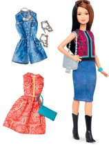 Barbie Fashionistas Pretty in Paisley - Barbiepop met 3 Outfits
